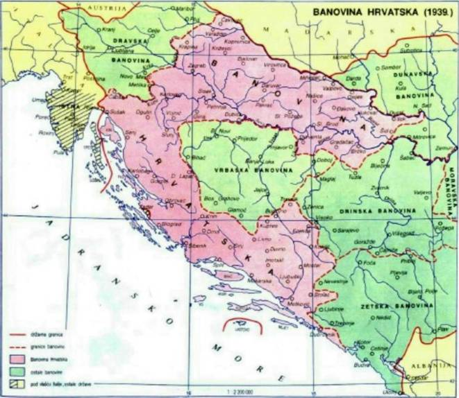 Zemljopis banovineHrvatske sporazumom iz 1939 g.